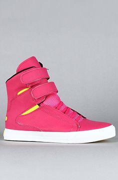 SUPRA The Society Sneaker in Magenta Satin TUF Neon Yellow : Karmaloop.com - Global Concrete Culture