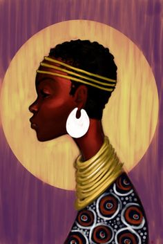 Tribute To The Beauty Of African Women: Zigbone. African Art Paintings, African Artwork, African Beauty, African Women, Natural Hair Art, Africa Art, Black Artwork, African Diaspora, Black Women Art