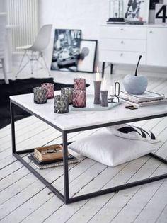 wohnzimmertisch-steinplatte - The world's most private search engine Ikea Living Room, Living Room Interior, Decoration Inspiration, Interior Design Inspiration, Deco Salon Design, Cadre Design, Style Salon, Esstisch Design, Coffee Table Design