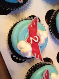 Planes cupcakes