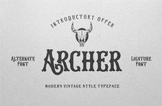 Archer Font by inksunmildertype™ on @creativemarket
