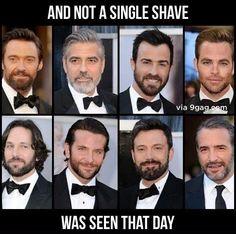 That is okay with me!!  Hugh Jackman, George Clooney, Justin Theroux, Chris Pine, Paul Rudd, Bradley Cooper, Ben Affleck and Jean Dujardin.