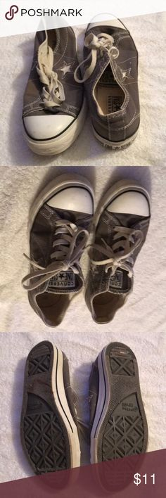 Converse one star sneakers Converse one star. Fair Condition. Women's size 7.5. Grey and white Converse Shoes Sneakers