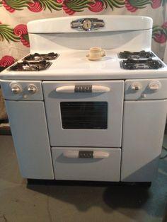 Gorgeous Vintage Milky White Appliances! 1950s Tappan Deluxe Gas Stove.  Available Via Ingot