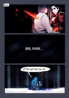 a little comic about fathers and sons and darkness and light..i just kept imagining what anakin must have thought/felt to see ben do what he did, especially since anakin embraced the light in the end
