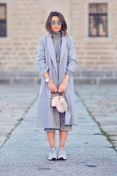 Ideas de look total gris. Lo mejor de Street Style.
