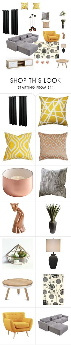 Bft-2355 by arvai-andrea on Polyvore featuring interior, interiors, interior design, home, home decor, interior decorating, Gus* Modern, Safavieh, Pier 1 Imports and Pillow Decor