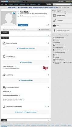 #LinkedIn new page, tutorial for a new profile