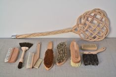 La Tresorerie Paris | Remodelista, brushes and carpet beater from Redecker of Germany