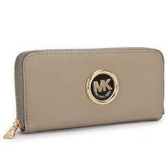 Michael Kors Outlet Saffiano Continental Large Grey Wallets -save up 80% off michael kors store online !!