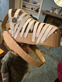 Dinosaur mask for my son Dinosaur Mask, Dinosaur Party, Godzilla Costume, Dinosaur Halloween Costume, Diy Artwork, Fitness Gifts, Paper Crafts For Kids, Crafty Kids, Happy Socks