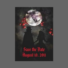 unique gothic art wedding invitation....this would be my save the date only the date would be october 31st!