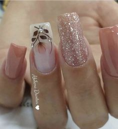 19 fabulous pink nail art designs ideas that looks cool 2 Square Nail Designs, Cute Nail Designs, Cute Nails, Pretty Nails, Pink Nail Art, Bling Nails, Flower Nails, Stylish Nails, Creative Nails