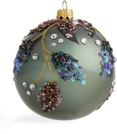 Harrods, designer clothing, luxury gifts and fashion accessories Christmas Tree Toy, Christmas Decorations For The Home, Christmas Ornament Crafts, Christmas Baubles, All Things Christmas, Handmade Christmas, Christmas Holidays, Sequin Ornaments, Painted Ornaments