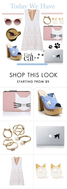 """""""Today We Have Cat Day"""" by kotynska-zielinska ❤ liked on Polyvore featuring Karl Lagerfeld, Miu Miu, Candie's, STELLA McCARTNEY, Aamaya by priyanka, WithChic, women's clothing, women, female and woman"""
