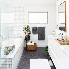 Doesn't it seem like the kitchen gets alllll the love when it comes to building your wedding gift registry? What about poor bathroom? We've got five easy tips on the blog to keep in mind as you add #bathroom items to your gift registry with @crateandbarrel.  Photos by: @jeffmindell #CrateWedding