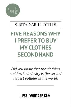 Given all the benefits of buying secondhand and vintage clothes, I rarely go retail shopping anymore. For me, clothes are not just shallow visual representations of my style. The clothes that I choose to wear reflect my values, too.  #vintagefashion #vintageshop #secondhandonline #etsyseller Ethical Fashion, Slow Fashion, Buy My Clothes, Vintage Outfits, Vintage Fashion, Second Hand Online, My Values, Clothing And Textile, Retail Shop