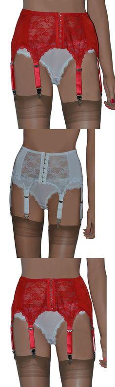 1001 Stockings Sheer 1-3Pc Queen 1X Red Leg Avenue 8888 Q Garter Belt Thong