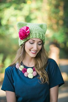 Knitting for Spring. Reknit a favorite hat in a bright yarn.