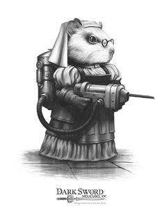 Matron Steam Punk Guinea Pig - Critter Kingdoms™ Anthropomorphic Animals - Miniature Lines