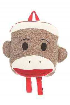 401b33c2bf454 Maxx The Sock Monkey Plush Kids Backpack     Read more at the image link.
