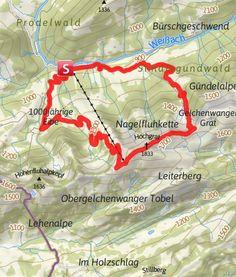 Karte / 49 Hochgrat über Brunnenau