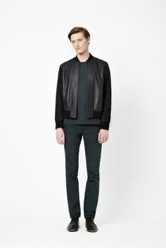 Nubuck sleeve jacket