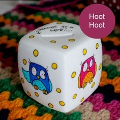 Personalised Owls Money Cube Personalised Owls Money Cube Ha