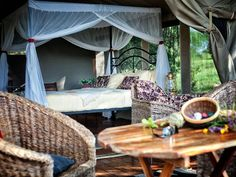 Pleasant luxury tents with safari style furniture | Holidays in Tanzania | Mbali Mbali Lodges and Camps