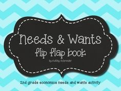 Needs and Wants flip-flap book