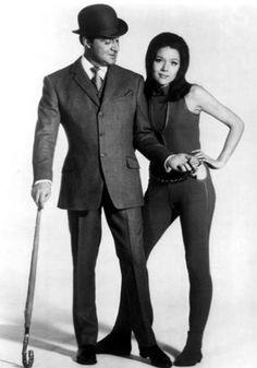 Patrick Macnee as John Steed and Diana Rigg as Emma Peel in The Avengers (1961-1969)