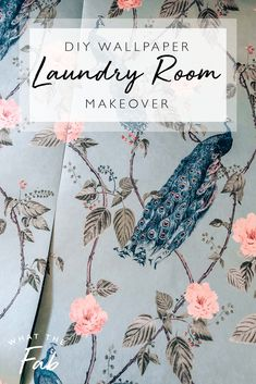 Have you been wanting to pick up a new project at home? Try doing a DIY wallpaper laundry room makeover. It doesn't take long and you'll end up with very happy results! home diy | home diy projects | home diy ideas | home diy decor | diy laundry room makeover | diy laundry room makeover on a budget | diy laundry room makeover small spaces | laundry room makeover #homediy #homediyprojects #homediyideas #homediydecor #diylaundryroommakeover #diylaundryroommakeoveronabudget #diylaundry #laundry Laundry Room Wallpaper, Dining Room Wallpaper, Interior Wallpaper, Wallpaper Decor, Wallpaper Ideas, Diy House Projects, Craft Projects For Kids, Gold Diy, Kitchen Tables