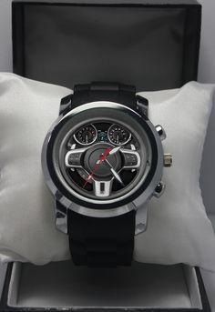 Custom Watch Rubber Band Mitsubishi Lancer Evo GSR Steering Wheel Wristwatches