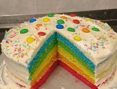 Szivárványtorta lett az ünnepelt kisfiú kedvence, fülig ért a szája mikor meglátta! - Ketkes.com Birthday Cake, Food, Birthday Cakes, Meals, Birthday Cookies, Yemek, Cake Birthday, Eten