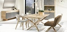 German contemporary design and high quality craftsmanship from Austria are both combined in this Organo dining table. Unique Furniture, Dining Furniture, Luxury Furniture, Furniture Design, Convertible Coffee Table, Oak Dining Table, Dining Room, Table Design, Dream Home Design