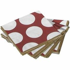 From Garnet and Gold... perfect princess napkin