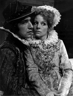 Alan Rickman and Anna Calder-Marshall in a Birmingham Repertory Company production of 'The Devil is an Ass' at the Assembly Halls during the Edinburgh Festival 1976