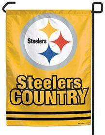 Pittsburgh Steelers Garden Flag 11x15 Steeler Country Design
