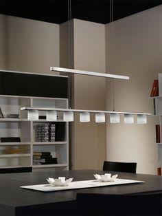 19 Watt LED Ciondoli Copertura Lampada A Sospensione Nichel altezza regolabile