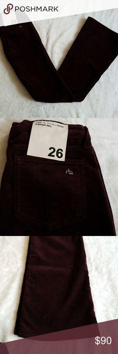 "NWOT Rag & Bone Flare Corduroy Pants NWOT Rag & Bone Flare Corduroy pants womans  Sz 26 Color :Wine  Approximate Measurements  Length: 43"" Inseam: 34"" Waist: 14"" Leg Opening: 10.5""  Reasonable Offers Accepted rag & bone Pants Boot Cut & Flare"