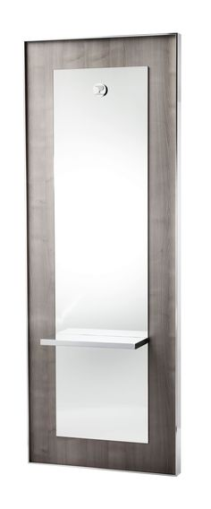 KING TECNO styling unit with frame and shelf in polished aluminium, see the infinite option to coordinate the styling unit to your equipment thanks to 9 different laminate finishing, see details here http://www.pietranera.com/en/workingplaces/kingtecno