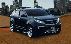 Kia Sportage 2010 modded black