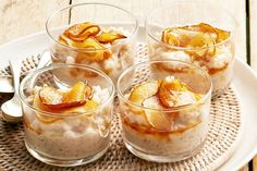 Cook your family a fruit dessert with this coconut rice pudding with caramelised pear recipe from Curtis Stone.