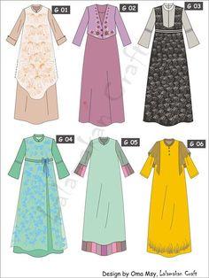 Dress Design Patterns, Dress Design Sketches, Fashion Design Sketches, Abaya Fashion, Fashion Dresses, Moslem Fashion, Abaya Designs, Frocks For Girls, Mode Hijab
