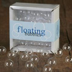 Floating Clear Bubbles...cute table decorations