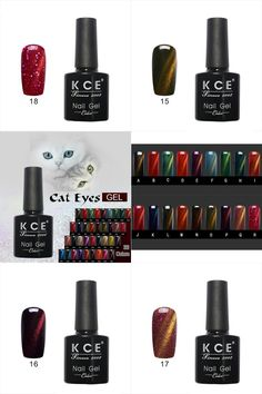 [Visit to Buy] 18 Colors UV glue Nail Polish Manicure LED Cats Eye color dark color Gelpolish 12ml Nail art Printing Tool Kit Nail Polish  #Advertisement