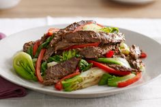 Asian Beef with Baby Bok Choy #kraftrecipes
