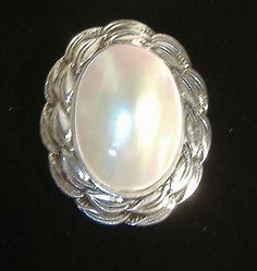vintage mother of pearl dress clip