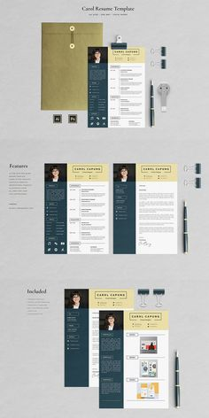 Carol Capung Resume Template is a professionally designed Resume (CV), clean and modern resume, very easy-to-edit for everyone with clearly organized and labeled layers inside. Every element of this Resume is 100% editable to help you creating a professional good looking Resume to leave a positive impression.