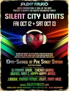 #SilentCityLimits #Austin  October 12-13